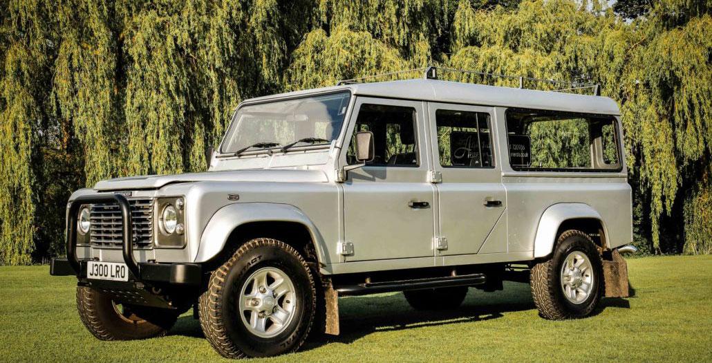 Land Rover Defender hearse - funeral transportation