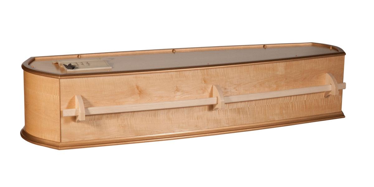 Maple coffin