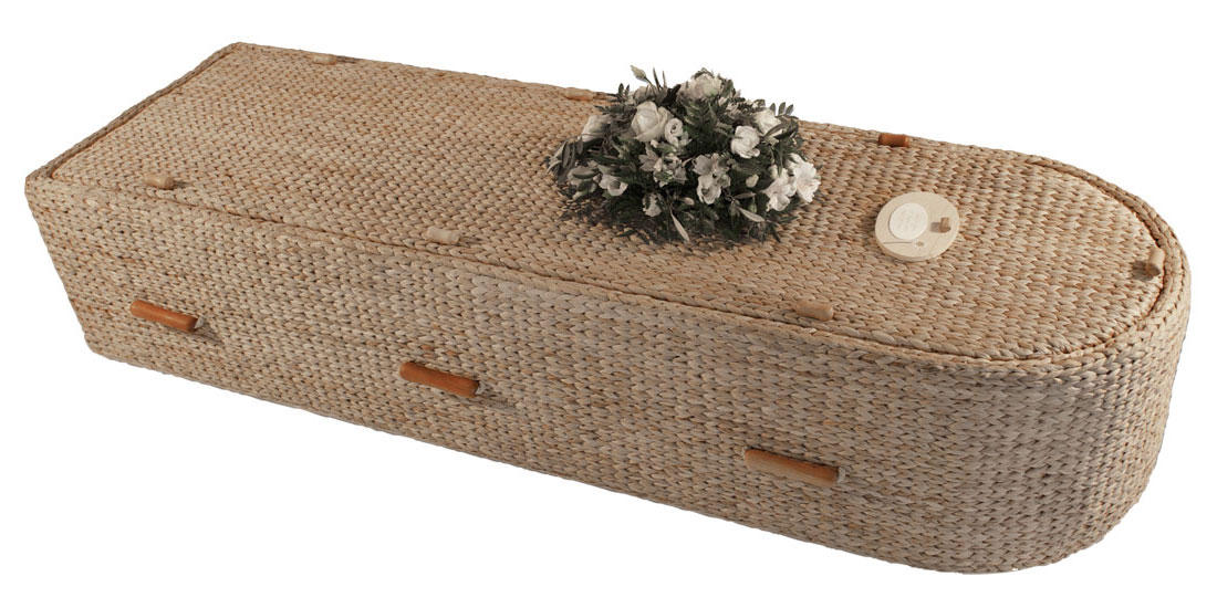 water hyacinth coffin