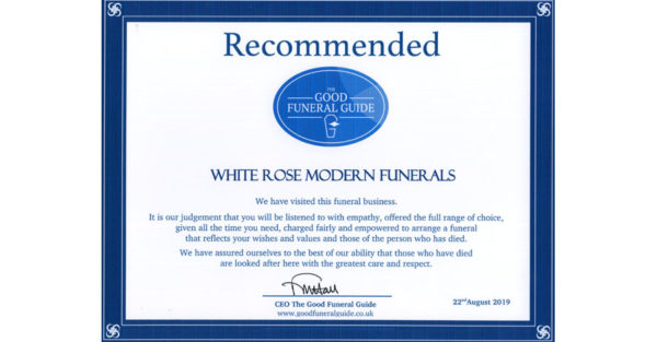 Good Funeral Guide accreditation