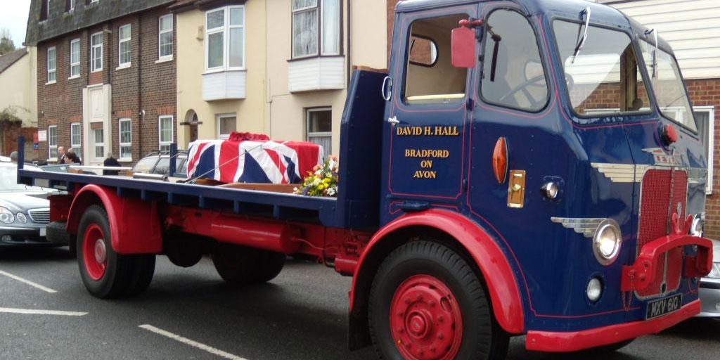 vintage lorry hearse
