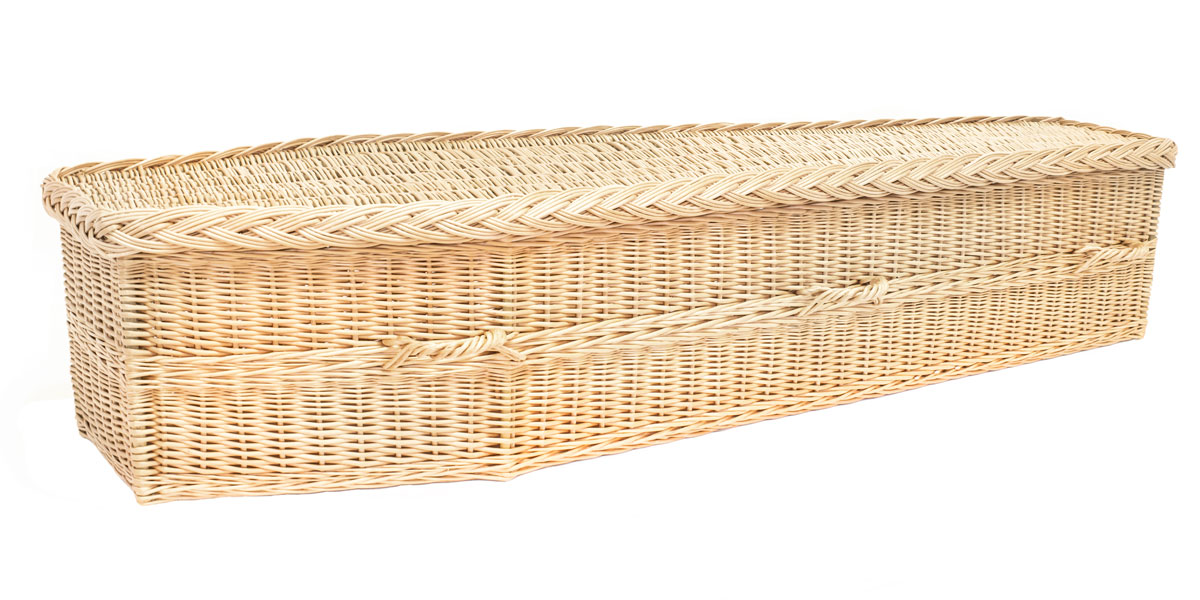 Avalon White Willow coffin