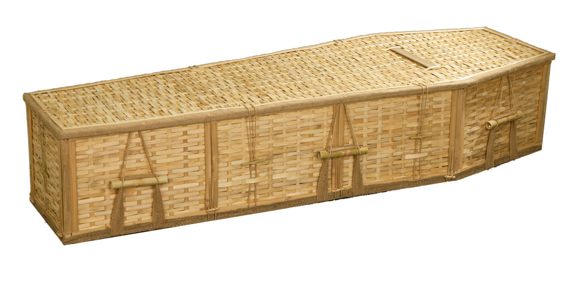 Natural Bamboo coffin