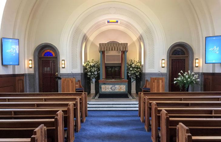 Chapel at Mortlake Crematorium