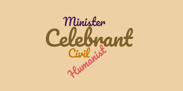 A celebrant for funerals - minister, civil celebrant, humanist celebrant